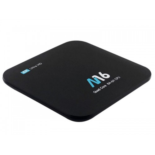 Android Smart TV Box M16 64bit Quad S905X 1.5Ghz/2GB DDR3/16GB/4K UHD/WiFi/BT/Remote/A7.1.2
